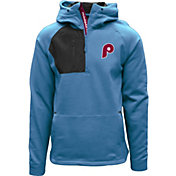Levelwear Men's Philadelphia Phillies Blue Long Sleeve Quarter-Zip Pullover Hoodie