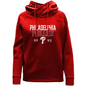 Levelwear Women's Philadelphia Phillies Red Frolic Pullover Hoodie