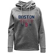 Levelwear Women's Boston Red Sox Grey Frolic Pullover Hoodie