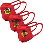 Levelwear Youth Chicago Blackhawks 3-Pack Face Coverings