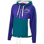 Mitchell & Ness Women's Utah Jazz Purple Windbreaker Half-Zip Pullover Jacket