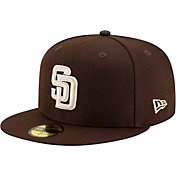 New Era Men's San Diego Padres Brown 59Fifty Fitted Hat