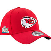 New Era Men's Super Bowl LIV Patch Kansas City Chiefs 39Thirty Stretch Fit Hat