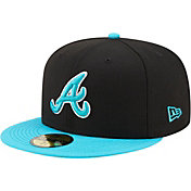 New Era Men's Atlanta Braves Black 59Fifty Colorpack Fitted Hat