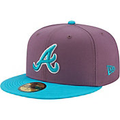 New Era Men's Atlanta Braves Purple 59Fifty Colorpack Fitted Hat