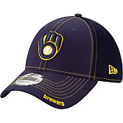 New Era Men's Milwaukee Brewers Navy 39Thirty Neo Stretch Fit Hat