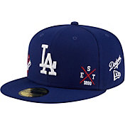New Era Men's Los Angeles Dodgers Blue 59Fifty Multi-Logo Fitted Hat