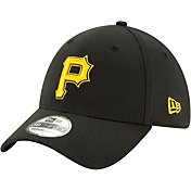 New Era Men's Pittsburgh Pirates Black Classic 39Thirty Stretch Fit Hat