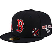 New Era Men's Boston Red Sox Navy 59Fifty Multi-Logo Fitted Hat
