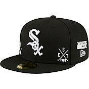 New Era Men's Chicago White Sox Black 59Fifty Multi-Logo Fitted Hat