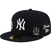 New Era Men's New York Yankees Navy 59Fifty Multi-Logo Fitted Hat