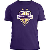 New Era Men's Louisville City FC Logo Purple Tri-Blend T-Shirt