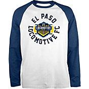 New Era Men's El Paso Locomotive FC Raglan White Long Sleeve Shirt