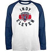 New Era Men's Indy 901 FC Raglan White Long Sleeve Shirt