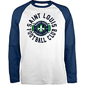 New Era Men's Saint Louis FC Raglan White Long Sleeve Shirt