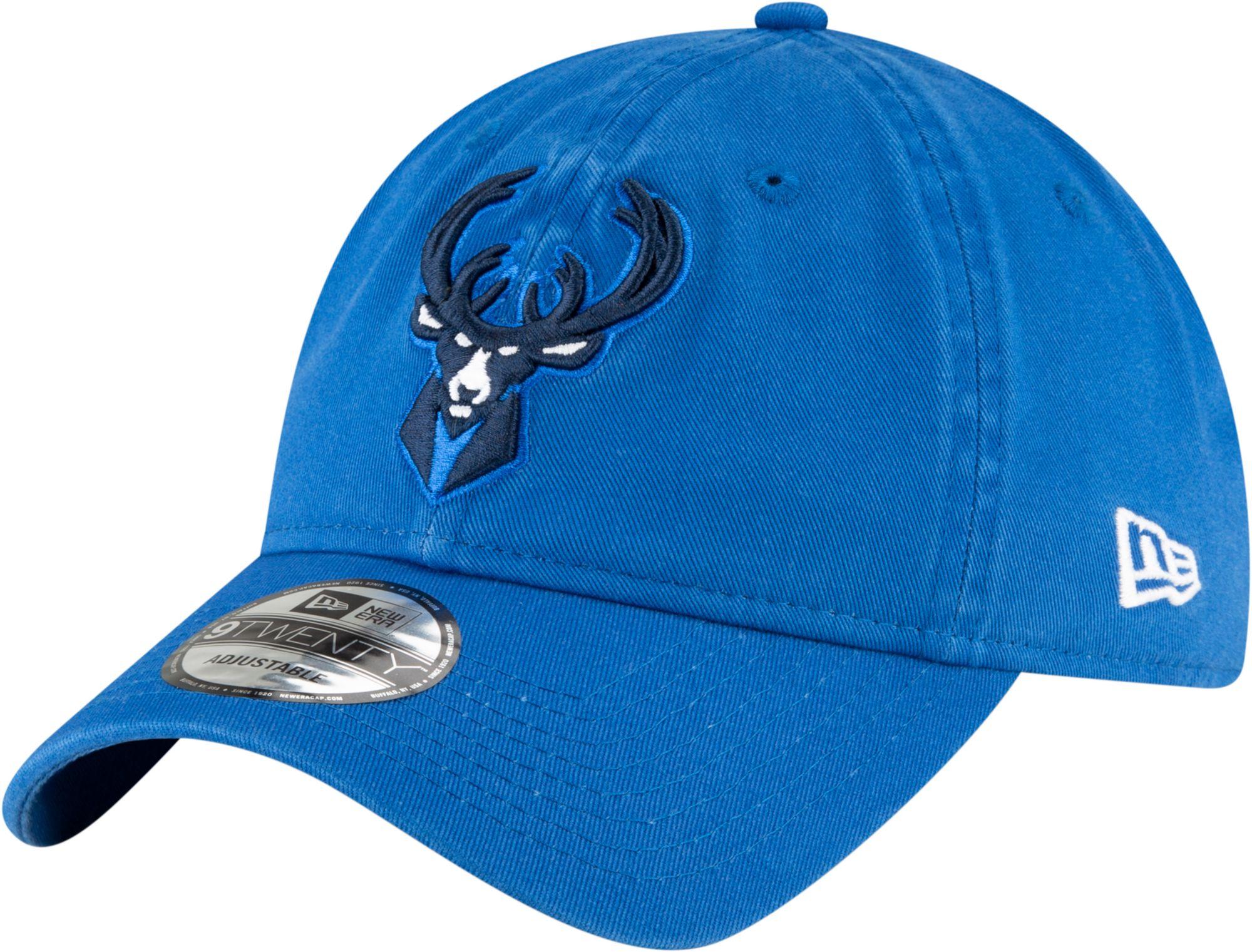 New Era Men's 2020-21 City Edition Milwaukee Bucks 9Twenty Alternate Adjustable Hat, Blue thumbnail