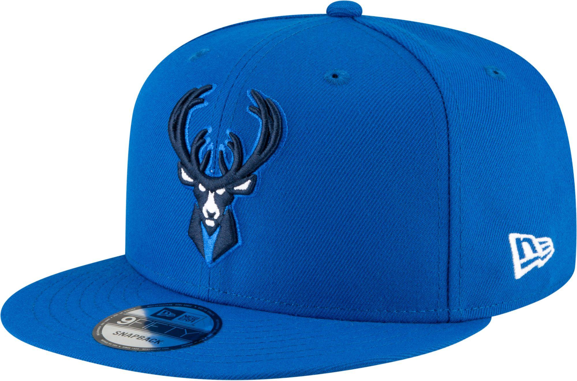 New Era Youth 2020-21 City Edition Milwaukee Bucks 9Fifty Alternate Adjustable Snapback Hat, Men's, Blue thumbnail