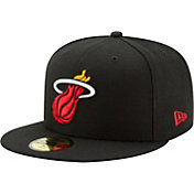 New Era Men's Miami Heat 59Fifty Black Fitted Hat