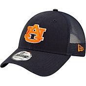 New Era Men's Auburn Tigers Blue 9Forty Trucker Adjustable Hat
