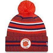 New Era Men's Clemson Tigers Orange Sport Knit Pom Beanie