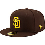 New Era Men's San Diego Padres 59Fifty Game Dark Brown Game Fitted Hat