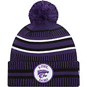 New Era Men's Kansas State Wildcats Purple Knit Pom Beanie