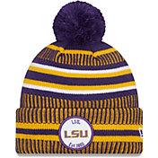 New Era Men's LSU Tigers Purple Sport Knit Pom Beanie