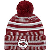 New Era Men's Arkansas Razorbacks Cardinal Knit Pom Beanie