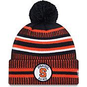 New Era Men's Syracuse Orange Blue Sport Knit Pom Beanie