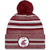 New Era Men's Washington State Cougars Crimson Sport Knit Pom Beanie