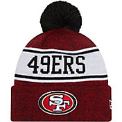 New Era Youth San Francisco 49ers Red Banner Knit Pom Beanie