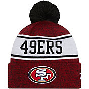 New Era Men's San Francisco 49ers Red Banner Knit Pom Beanie