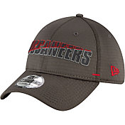 New Era Men's Tampa Bay Buccaneers Grey Summer Sideline 39Thirty Stretch Fit Hat
