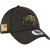 New Era Men's Salute to Service Tampa Bay Buccaneers 39Thirty Stretch Fit Black Hat