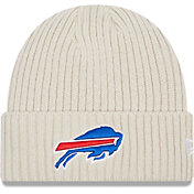 New Era Men's Buffalo Bills Core Cuffed Knit White Beanie