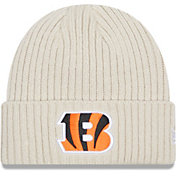 New Era Men's Cincinnati Bengals Core Cuffed Knit White Beanie