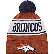 New Era Youth Denver Broncos Orange Banner Knit Pom Beanie
