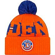 New Era Men's Denver Broncos Sideline Sport Pom Knit Hat