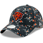 New Era Women's Chicago Bears Navy Blossom Adjustable Hat
