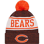 New Era Youth Chicago Bears Navy Banner Knit Pom Beanie