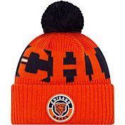 New Era Men's Chicago Bears Sideline Sport Orange Knit Hat