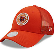 New Era Women's Chicago Bears Orange Sparkle Adjustable Trucker Hat