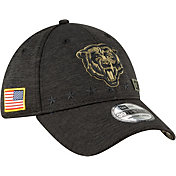New Era Men's Salute to Service Chicago Bears 39Thirty Stretch Fit Black Hat