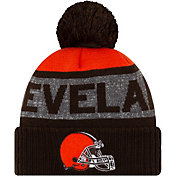 New Era Men's Cleveland Browns Pom Knit