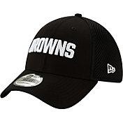 New Era Men's Cleveland Browns Black 9Forty Trucker Adjustable Hat