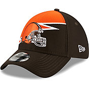 New Era Men's Cleveland Browns Brown 39Thirty Bolt Fitted Hat