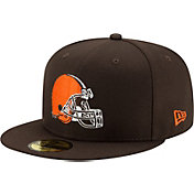 New Era Men's Cleveland Browns Brown 59Fifty Logo Fitted Hat