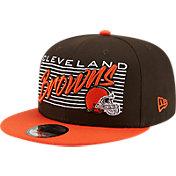 New Era Men's Cleveland Browns  9Fifty Adjustable Dark Brown Hat