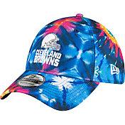 New Era Men's Cleveland Browns Sideline Crucial Catch 39Thirty Tye Dye Stretch Fit Hat