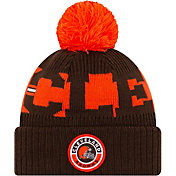 New Era Men's Cleveland Browns Sideline Sport Brown Knit Hat